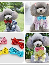 Bright Tie Dogs Product Dog Tie Styling Tools Pet Apparel Red&Blue&Yellow&Pink Accessory