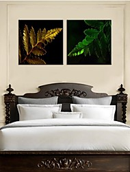 Personalized Canvas Print Stretched Canvas Art Colorful Leaves 30x30cm  40x40cm  60x60cm  Gallery Wrapped Art Set of 2