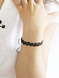 Shixin® Vintage Black Elastic Decorative Design Charm Bracelet(1 Pc)