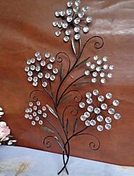 Metal Wall Art Wall Decor,Crystal Flower Decor
