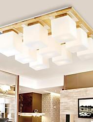 teto de carvalho luz, nove luzes, carvalho e vidro, 220 ~ 240V (hy9029)