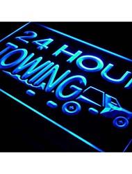 I384 24 Stunden Abschleppen Autoreparaturen Auto Neonlicht-Zeichen