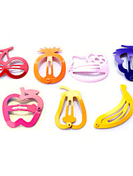 Sweet Candy Color Painting Colorful Fruit Clip Hairpin Random Delivery