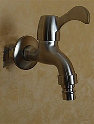 Contemporary Stainless Steel 304 Bibcock Single Cold Wall Washing Machine Taps