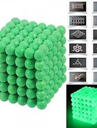 216pcs 5mm DIY Buckyballs and Buckycubes Magnetic Blocks Balls Toys Fluorescent Green