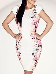 Women's Flower Pattern Slim Dress