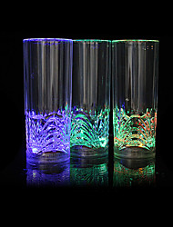 "6""H Glowing with Flower Pattern Beer Glasses"