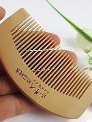 populares pente cuidados de saúde natural anti-estático pente pêssego pente de madeira tamanho 10x5