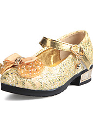 Synthetic Girls' Low Heel Mary Jane Pumps with Bowknot Sequin Shoes(More Colors)