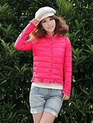 Women's Single Button Down Jacket Coat