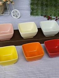 Pudding Dessert Bowl Ceramic Bowl Random Color ,8X8X4.3cm