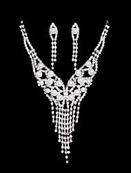 Schmuck-Set Damen Hochzeit / Party / Alltag Schmuck-Set Legierung Halsketten / Ohrringe Silber
