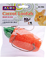 Dogs Alex Carrot Loofah Sponge for Harness