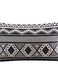 черно-белый геометрический хлопок / лен декоративная наволочка