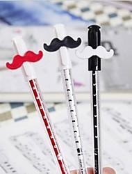 netter Kristall Bart Transparenz Design Kunststoff Gelschreiber (zufällige Farbe x1pcs)