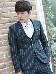 Men's Work Suit,Plaid Regular Others