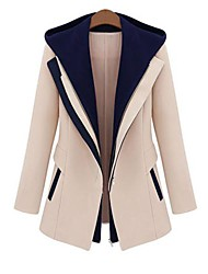Women's All-match Slim False Two Pieces Hooded Suit Outerwear