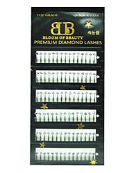 90pcs extensión de pestañas con diamantes de imitación
