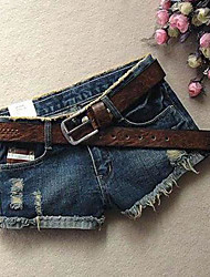 Women's Grinding Burrs Denim Shorts Pants