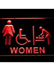 vestiário i1031 mulheres bebê com deficientes sinal de néon WC acessível