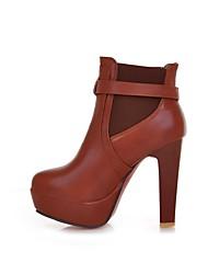 botines de plataforma zapatos de tacón grueso de las mujeres más colores disponibles
