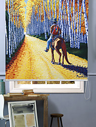 Oil Painting Style Rider In Alameda Roller Shade