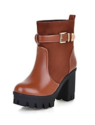 damesschoenen motorlaarzen hoge dikke hak suède enkellaarsjes meer kleuren beschikbaar