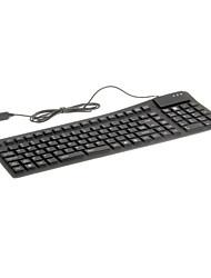 kn-105 tragbare wasserdichte flexible drahtgebundene USB-Tastatur