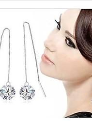 Fashion Silver Eight Heart, Eight Arrows Long Earrings Drop Earrings
