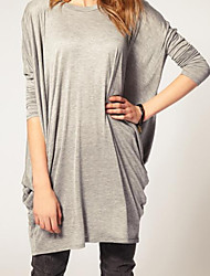 Women's Long Sleeves Loose Knitted T-shirt