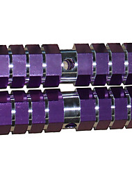 DOMNT 1 Pair BMX Bike Aluminum Alloy Rear Front Axle Purple Solid Foot Pegs