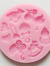 Mold 3D Cartoon For Cake For Cookie For Pie Silicone Eco-Friendly High Quality Nonstick