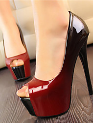 Amei Platform Peep-Toe High Heel Shoes _8