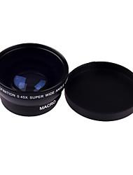 0.45 X 49mm Weitwinkel-Makro-Objektiv für Nikon Canon Sony Fujifilm Samsung Pentax Panasonic Leica Olympus Sigma 49mm Gewinde Objektiv