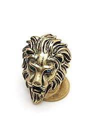 Retro King of The Forest Lion Head Ring