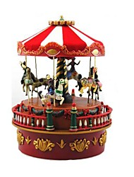 Marry-Go-Round 8 Sound American Style Wooden Music Box