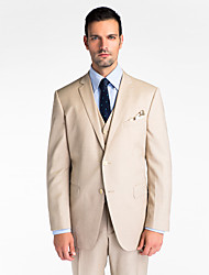 (Premium) Brown 100% Wool Tailored Fit Three-Piece uit
