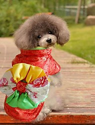pet fashion quimono colorido para animais de estimação cães (tamanhos variados)