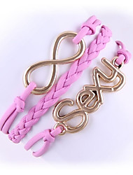 (1 Pc)Sweet 5.4cm Women's Sexy Alloy Chain & Link Bracelet