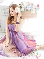 dégradé de couleur mousseline mode wrap poitrine grand plus la robe de la taille des femmes