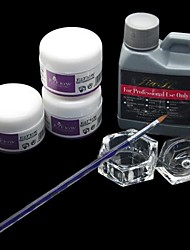 6PCS 120ML Acrylic Liquid Powder Pen Dish Nail Art Set Kit