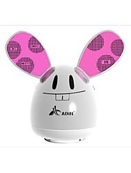 reallink®360 ° parleur portable en plastique mini-chaîne hi-fi aluminium surround, bouton tactile pour une utilisation (lapin 2color)