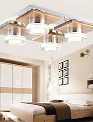 LED Oak Ceiling Lamp, Four Lights, Warm White, 220~240V