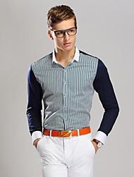 Men's Color Business Long Sleeved Shirt