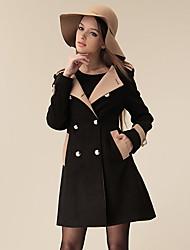 mode européenne linge mince manteau manteau femmes miyue