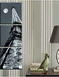 Personalized Canvas Print Under The Moon Eiffel Tower 30CM 45CM 50CM Gallery Wrapped Art