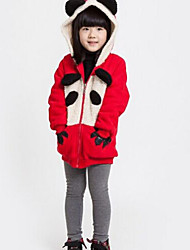 Girl's Red Hoodie & Sweatshirt Cotton Winter / Spring / Fall
