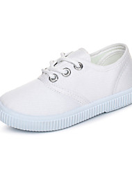 Boy's Sneakers Spring / Summer / Fall Comfort Canvas Casual Flat Heel Lace-up White