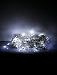 3x0.6x0.4M 100 LEDs Christmas Halloween decorative lights festive strip lights-White icicle lights (220V)