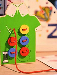 Children's Fancy Dress Sewing Buttons Game Handmade Toy